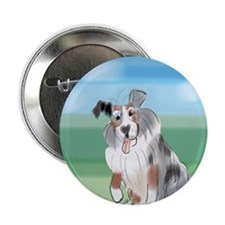 "Aussie Dog 2.25"" Button (10 pack)"