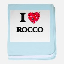 I Love Rocco baby blanket