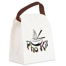 Pho Kit Floral Canvas Lunch Bag