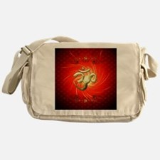 The sign om in gold Messenger Bag