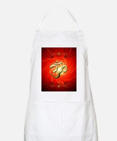 The sign om in gold Apron