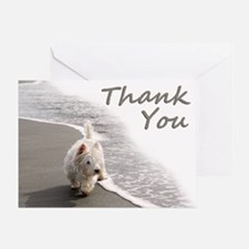 Westie Thank You Greeting Card