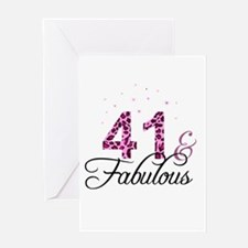41 and Fabulous Greeting Cards