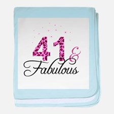 41 and Fabulous baby blanket