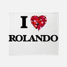 I Love Rolando Throw Blanket