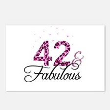 42 and Fabulous Postcards (Package of 8)