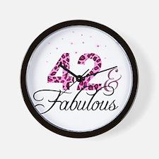 42 and Fabulous Wall Clock