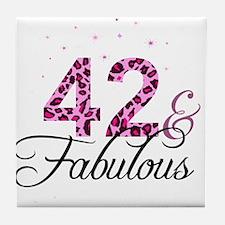 42 and Fabulous Tile Coaster