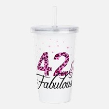 42 and Fabulous Acrylic Double-wall Tumbler