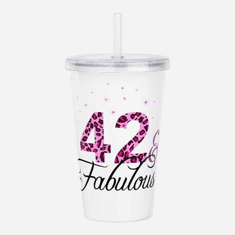 42 and Fabulous Acrylic Double-wall Tumbler
