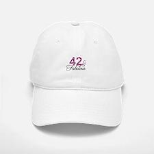42 and Fabulous Baseball Baseball Cap