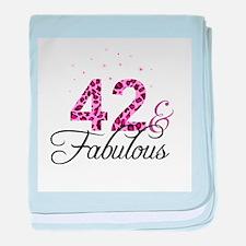42 and Fabulous baby blanket