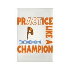 PRACTICE DIVING Rectangle Magnet