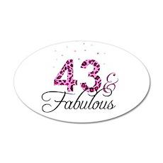 43 and Fabulous Wall Sticker