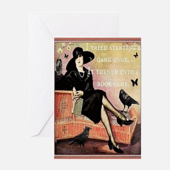 Book Club Card Greeting Cards