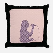 Female Singer Pink Throw Pillow