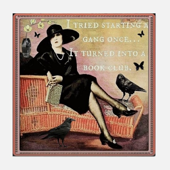 Book Club Tile Coaster