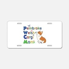 Welsh Corgi Mom Aluminum License Plate