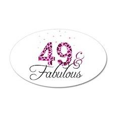 49 and Fabulous Wall Sticker