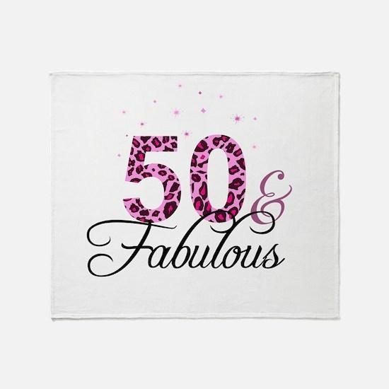 50 and Fabulous Throw Blanket