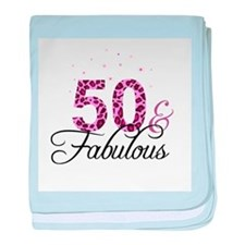 50 and Fabulous baby blanket