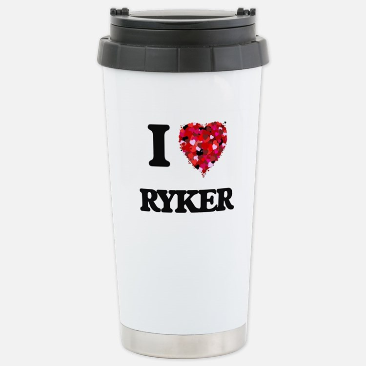 I Love Ryker Stainless Steel Travel Mug