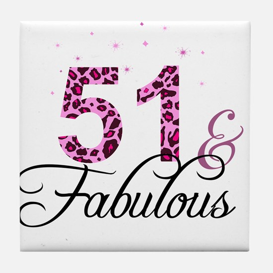 51 and Fabulous Tile Coaster