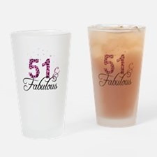 51 and Fabulous Drinking Glass