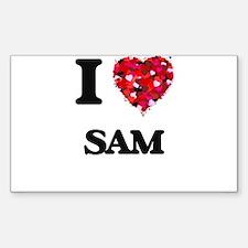 I Love Sam Decal