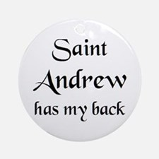 saint andrew Round Ornament