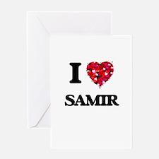 I Love Samir Greeting Cards