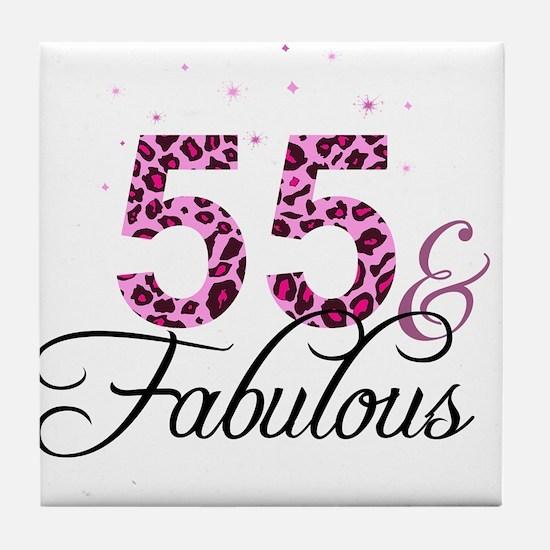 55 and Fabulous Tile Coaster
