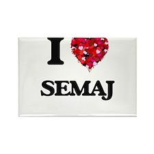 I Love Semaj Magnets