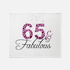 65 and Fabulous Throw Blanket