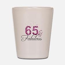 65 and Fabulous Shot Glass