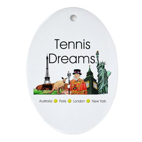 TOP Tennis Dreams Ornament (Oval)