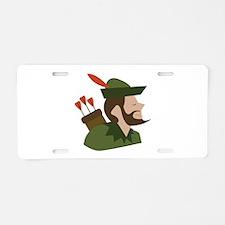 Robin Hood Aluminum License Plate