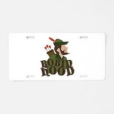 Robin Hoods Aluminum License Plate