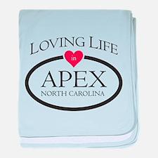 Loving Life in Apex, NC baby blanket