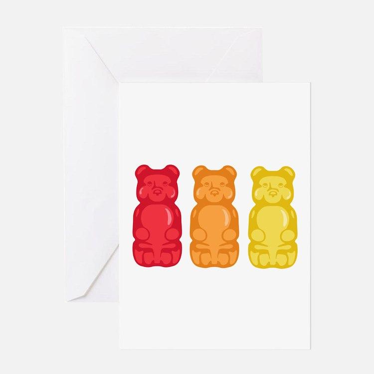 Gummy Bears Greeting Cards