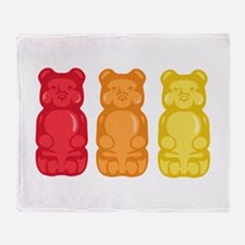 Gummy Bears Throw Blanket