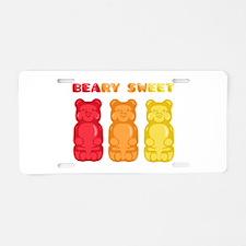 Beary Sweet Aluminum License Plate