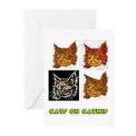 Cats On Catnip Greeting Cards (Pk of 20)