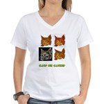Cats On Catnip Women's V-Neck T-Shirt