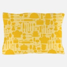 Cozy Retro Kitchen - Bright Yellow Pillow Case
