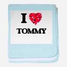 I Love Tommy baby blanket
