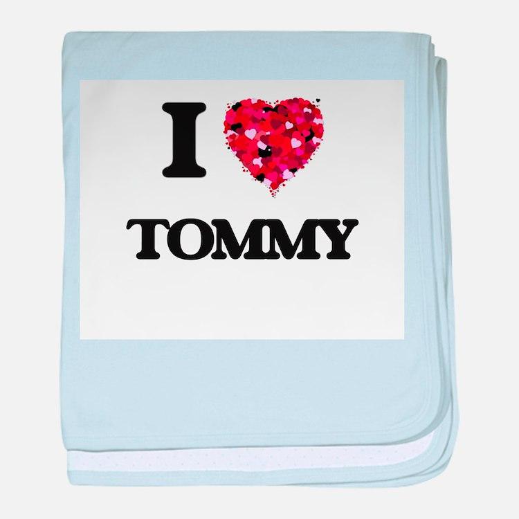I Love Tommy baby blanket