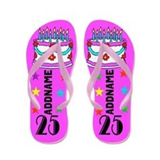 Chic Pink 25th Flip Flops