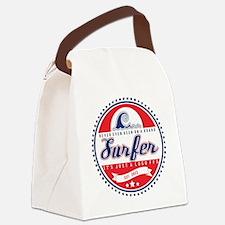 Vintage Surfer Logo Canvas Lunch Bag