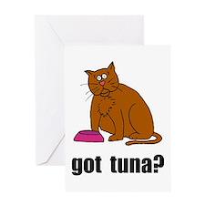 Got Tuna Cat Greeting Card